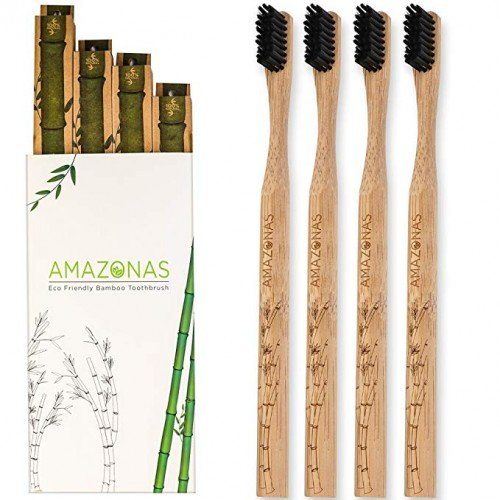 Bamboo Toothbrush – w/ activated charcoal + Zero Waste