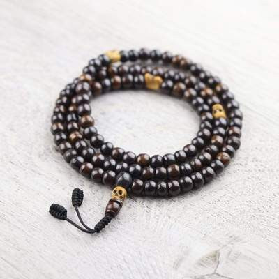 Bone and Skull Impermanence Mala