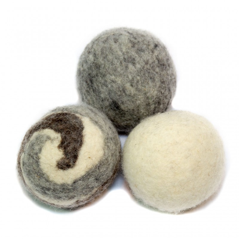 Wool Dryer Balls (3 Pack – Last 1 Year Each)