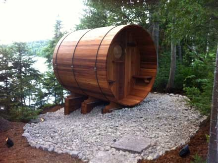Outdoor Canadian Cedar Sauna